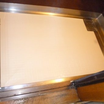 札幌市手稲区戸建住宅にて浴室洗い場の床材貼り替え工事