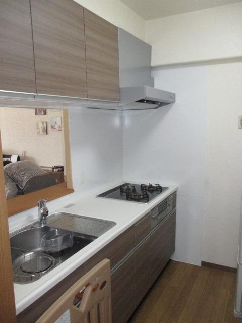 マンションリフォーム用ぴったりサイズ木製システムキッチン『グレーシア(GRACIA)』/I型210㎝