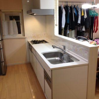 シンク下食洗機で使い勝手の良い対面キッチンへ 江別市