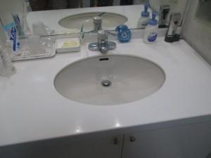 既存洗面所水栓