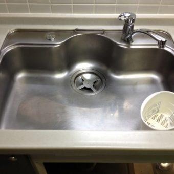 キッチンの水栓移設 札幌市手稲区