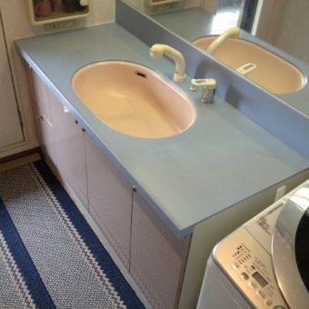 洗面化粧台のボウル脱落修理 札幌市