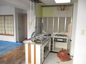 L型システムキッチン解体