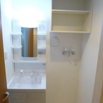 マンションフルリフォーム、コンパクト洗面+オーダー収納棚!札幌市