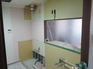 キッチン解体 パネル施工