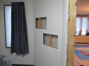 壁厚収納施工