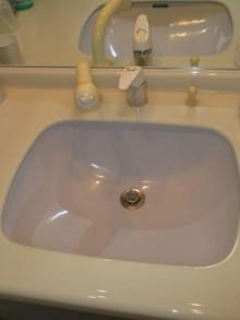 交換前洗面化粧台水栓