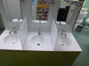 新洗面化粧台設置