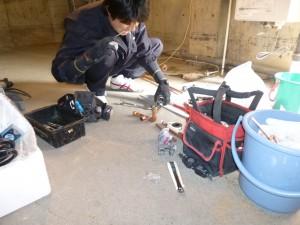 給水給湯配管のやり替え工事