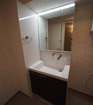 TOTO洗面化粧台にリフォーム!高い清掃性とデザイン性のOctave(オクターブ)へ 小樽市