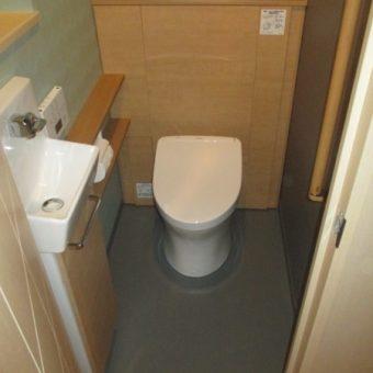 ビビットカラーから、落ち着きあるトイレ空間へリフォーム!札幌市