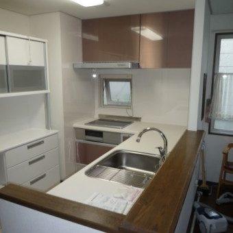 開放的なキッチンへ ステンレスキャビネットキッチンでキッチンリフォーム 北広島市