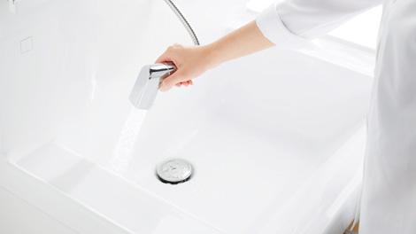 TOTO洗面化粧台 ハンドシャワー式