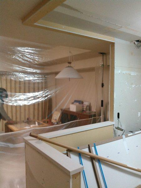 2施工中キッチン