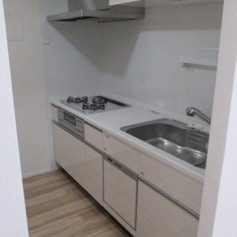 L型からI型へ♪タイル壁→キッチンパネルで楽々お掃除 札幌市マンション