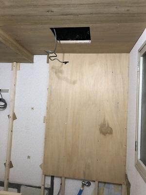 施工中 換気扇