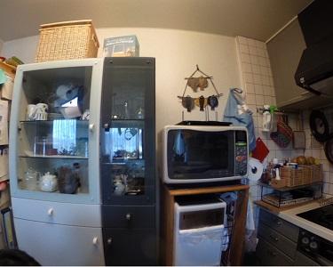 施工前 キッチン背面収納