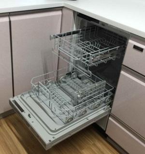 施工後 リンナイ 食器洗い乾燥機