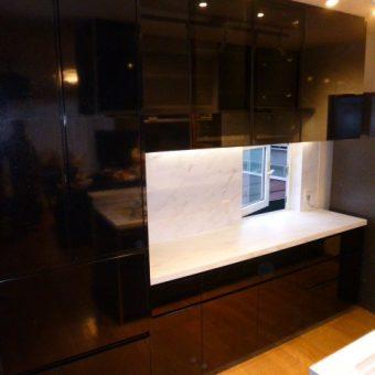 使いやすく、美しい、大容量のオーダー製食器棚! 札幌市