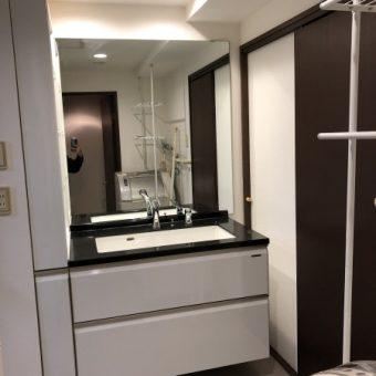 ホーロー製洗面化粧台『エリーナ』で収納もすっきりと!札幌市マンション