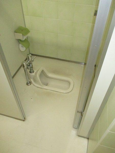 施工前和式トイレ
