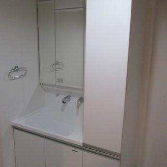 ビルダー向け洗面化粧台『エリシオ』で収納タップリ空間へ!札幌市マンション