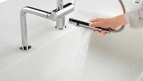 タッチスイッチ水ほうき水栓LF4