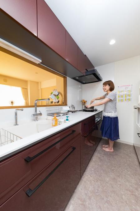 施工後キッチン TOTOクラッソ1