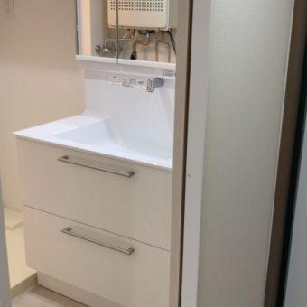 スタイリッシュデザインのTOTO『オクターブ』でスッキリ洗面!札幌市マンション