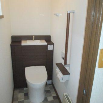 TOTO収納付きトイレ『レストパル』で片付くトイレ空間へ!札幌市戸建