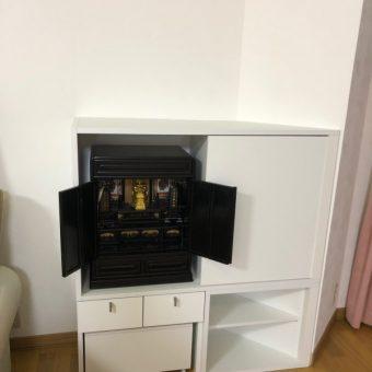 現代スタイルのお仏壇収納棚をオーダー製作!札幌市戸建