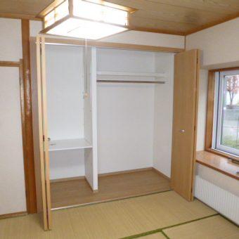 和室床の間+お仏壇収納をクローゼットへリフォーム!札幌市戸建