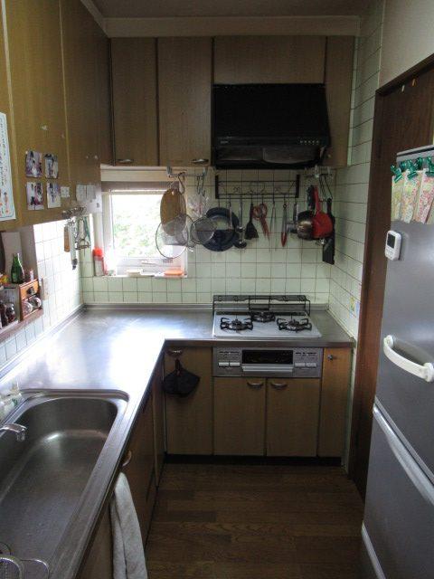 L型キッチン施工前