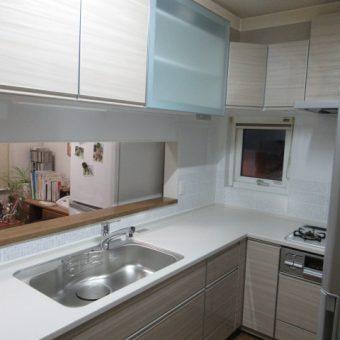 シンク下食洗機をビルトインしたL型キッチンへリフォーム!札幌市戸建