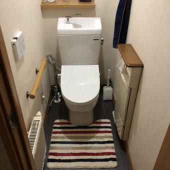 スクエアタンクがスタイリッシュ空間を作り出すトイレ!札幌市戸建
