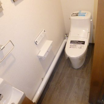 事務所和式トイレをLIXIL『アメージュZA』で快適洋式トイレへリフォーム!札幌市事務所