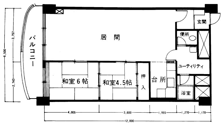 0施工前平面図