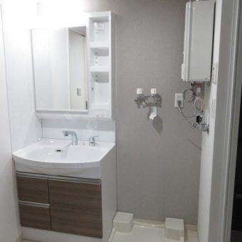 シンプルにリーズナブルに洗面化粧台リフォーム!札幌市マンションフルリフォーム