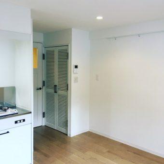 ワンルームマンションフルリフォームでまるで新築のようにチェンジ!キッチン・居室編