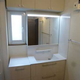 TOTO『オクターブ』で洗面空間での身支度が楽しくなります!札幌市戸建