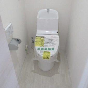 シンプルフォルム・機能のLIXILトイレ『アメージュZA』にリフォーム 小樽市マンション