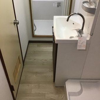洗面化粧台+洗濯パンを新設してUTを使いやすく!札幌市