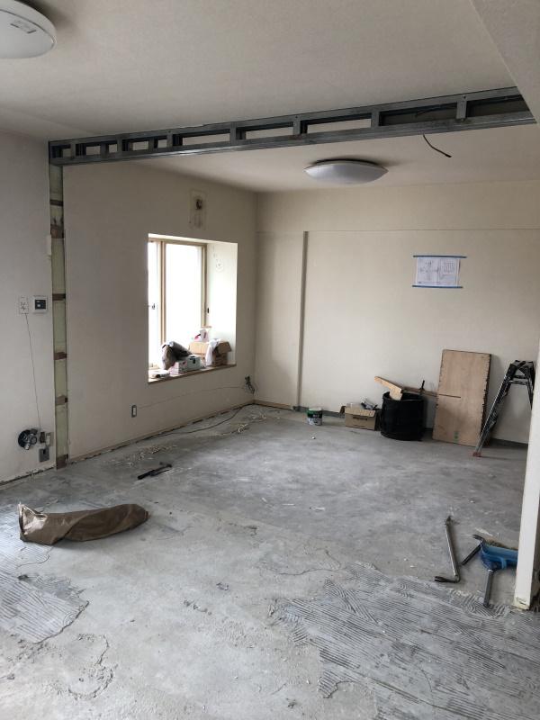 2施工中居室