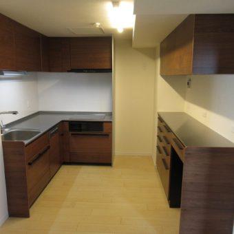 L型システムキッチン、クリナップ『セントロ』で上質空間へとリフォーム!札幌市マンション