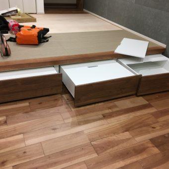 小上がり収納ワゴンオーダー製作施工事例!札幌市新築戸建て