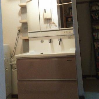 タカラスタンダードホーロー洗面化粧台『エリーナ』で快適に!長沼町戸建