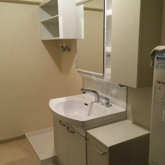 タカラスタンダード洗面化粧台『リフレシオ』へリーズナブルリフォーム!札幌市マンション