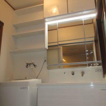 タカラホーロー洗面化粧台『ファミーユ』+オーダーオープンリネン庫!札幌市戸建