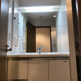 タカラ洗面『リフレシオ』+オーダーアクリルメデシンボックス!札幌市マンション