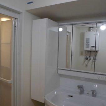 間口60㎝から間口75㎝の洗面化粧台へリフォームして広く使いやすく!札幌市マンション